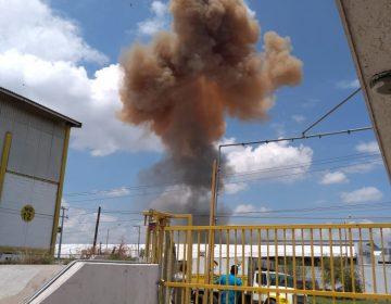 Se atiende reporte de explosión en fundidora ubicada en Ciudad Industrial