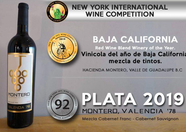Premian en competencia internacional a vino Montero, de Baja California