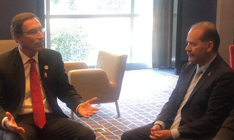 Se reúne gobernador de Aguascalientes con el presidente de Perú