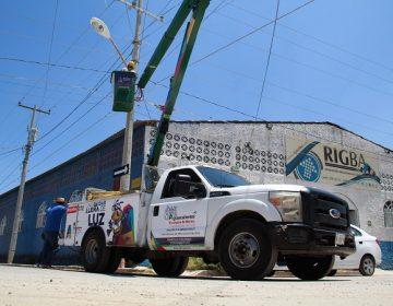 Renuevan luminarias de alumbrado público en comunidades de Aguascalientes