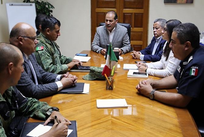 Sostiene Orozco primera reunión operativa con la Guardia Nacional