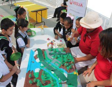 """Contribuye Veolia a lograr la primera escuela """"desplastificada"""""""