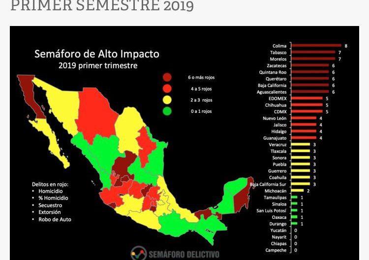 En alerta Aguascalientes por delitos de alto impacto