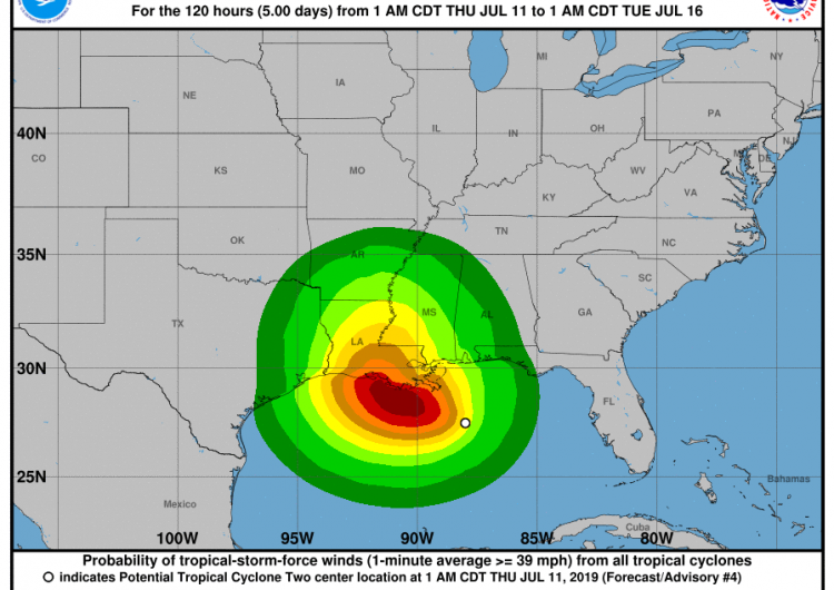 Una tormenta tropical formada en el Golfo de México pone en alerta a Nueva Orleans