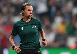 Stephanie Frappart es la primera árbitra en una final masculina de la UEFA