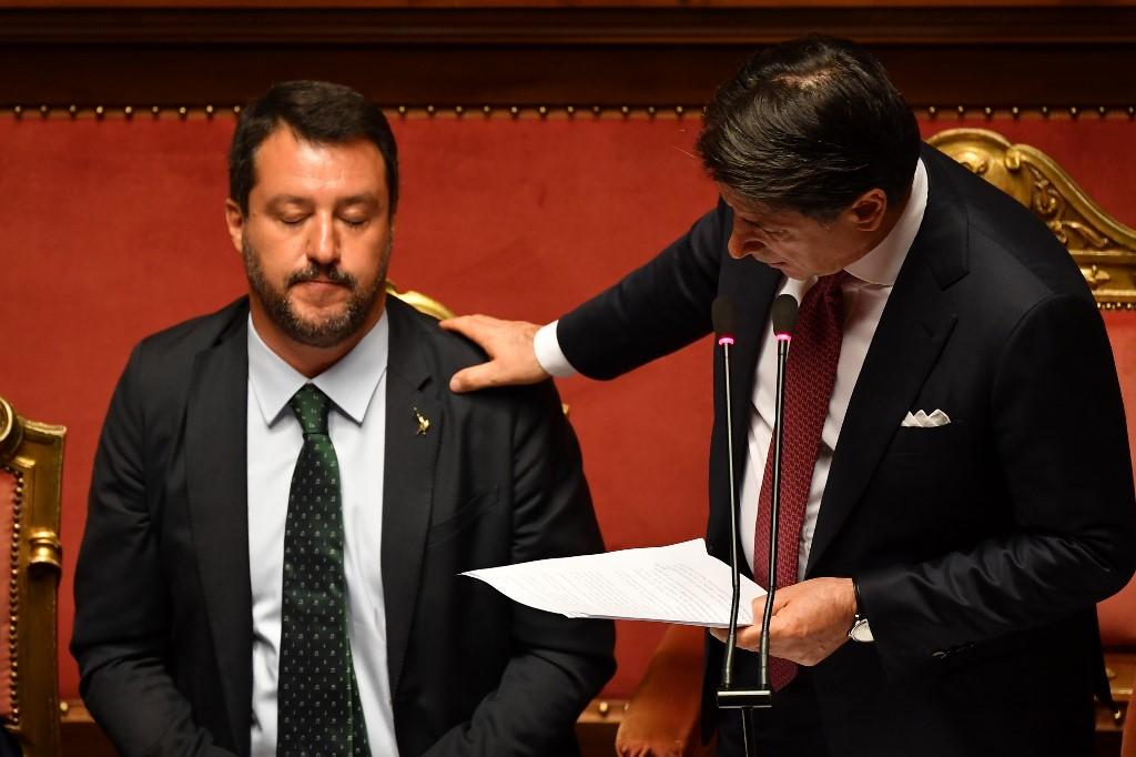 Italia-crisis política-Salvini-Conte-renuncia