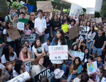 Greta Thunberg protesta frente a la ONU con estudiantes de EU