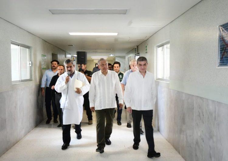 AMLO anuncia mejorías en el sistema de salud de Coahuila