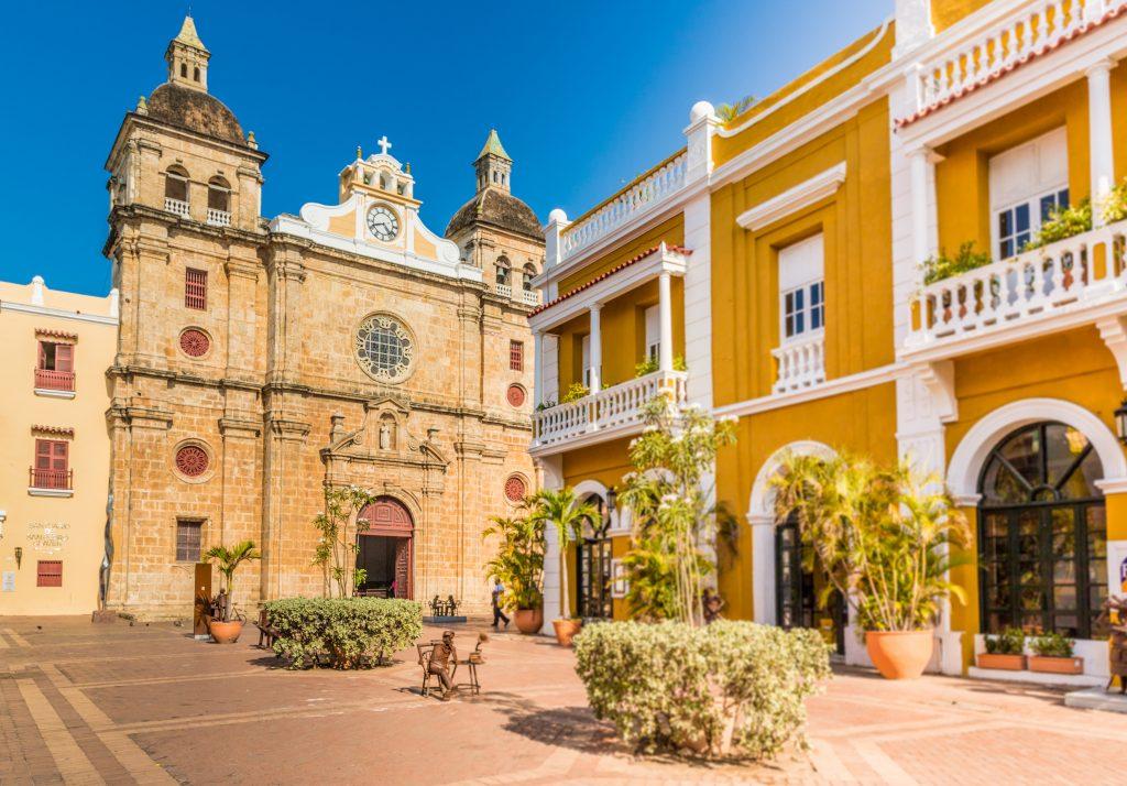Catedral de San Pedro Claver en Cartagena, Colombia