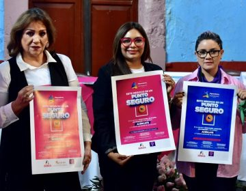 """Lanzan campaña """"Punto Seguro"""" para erradicar violencia y acoso callejero"""