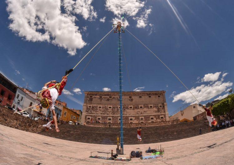 Los Voladores de Papantla llegan a Guanajuato, ¡no te los pierdas!
