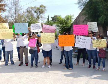 "Protestan ""teachers"" por falta de pagos del IEA"