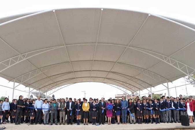 Inauguran infraestructura deportiva escolar en Jesús María