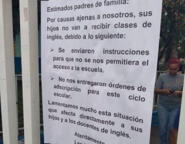 Escuelas inician ciclo sin clases de inglés