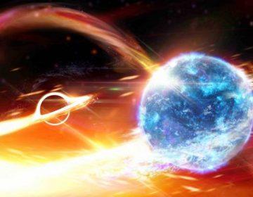 Científicos creen haber observado a un agujero negro tragando una estrella de neutrones