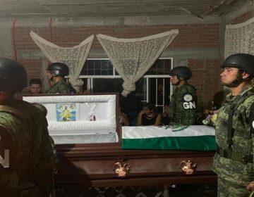 Despiden elemento de la Guardia Nacional que fue abatido en Guanajuato