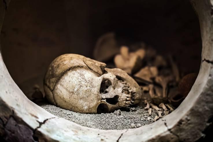 """Científicos buscan reconstruir el rostro de una """"bruja"""" sujeta a un entierro vampírico"""