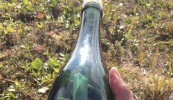 Hallan en Alaska mensaje en una botella 50 años después…