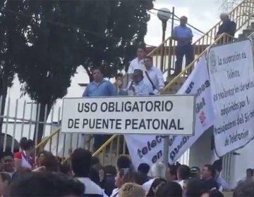 Protestan telefonistas poblanos por la separación de Telmex