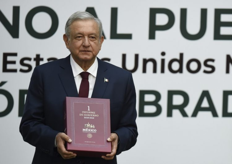 """AMLO acepta en Primer Informe que hay poco crecimiento económico y que """"todavía"""" existe inseguridad"""