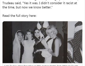 """""""Totalmente inaceptable"""": Trudeau se disculpa por foto con la cara pintada"""