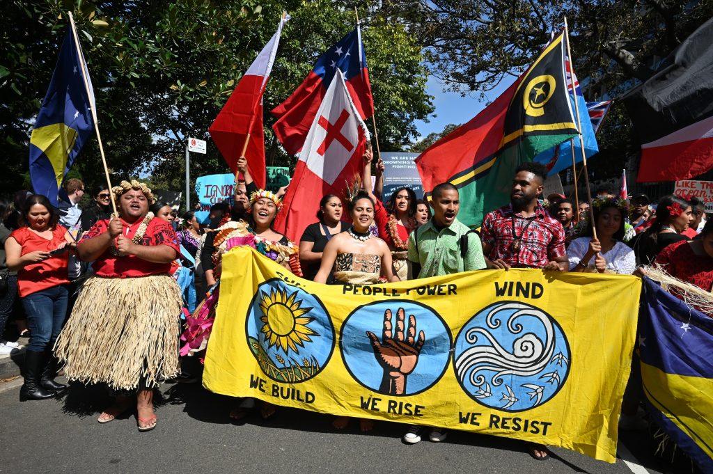 Protestas en Sidney, Australia. Foto. AFP
