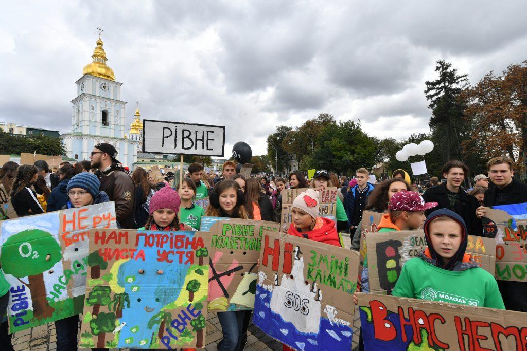 Estudiantes en Ucrania