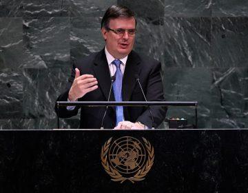Ebrard dice que México tiene un gobierno feminista y rechaza bloqueo a Cuba en la ONU