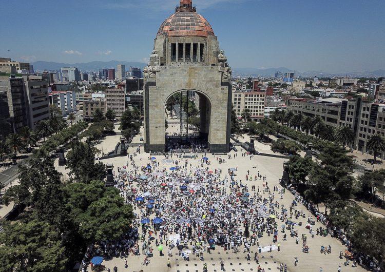 Marchan contra AMLO en la CDMX durante el Primer Informe de Gobierno