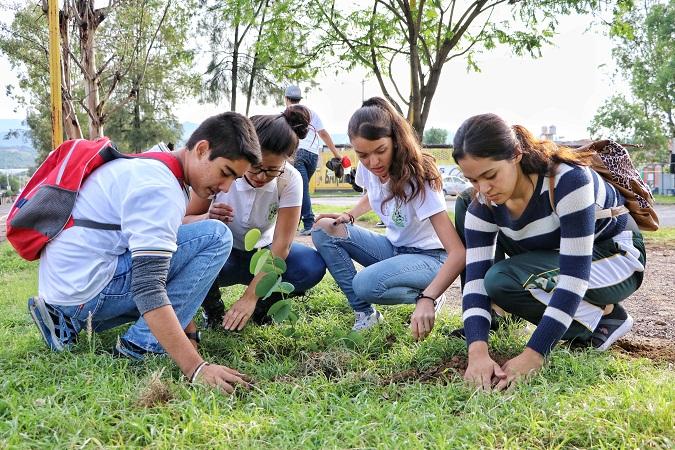 Plantan árboles en Blvd. Rodolfo Landeros en Calvillo