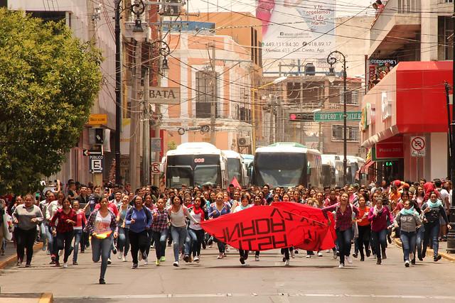 ¿Qué calles se cerrarán por la marcha de normalistas en Aguascalientes?