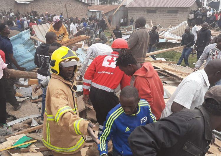 Mueren siete niños tras derrumbarse parcialmente una escuela en la capital de Kenia