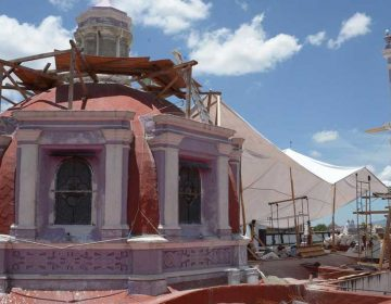 Reconstrucción de iglesias en Puebla ha sido de forma parcial