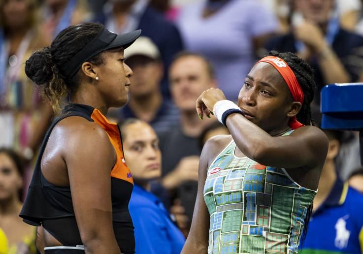 Las tenistas Naomi Osaka y Coco Gauff muestran su espíritu deportivo tras encuentro