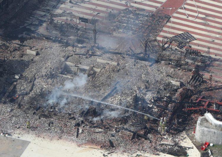 Incendio destruye el castillo japonés Shuri, considerado Patrimonio Mundial