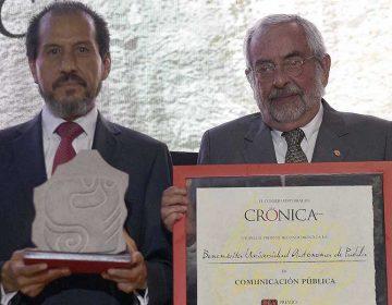 Recibe BUAP Premio Crónica 2019