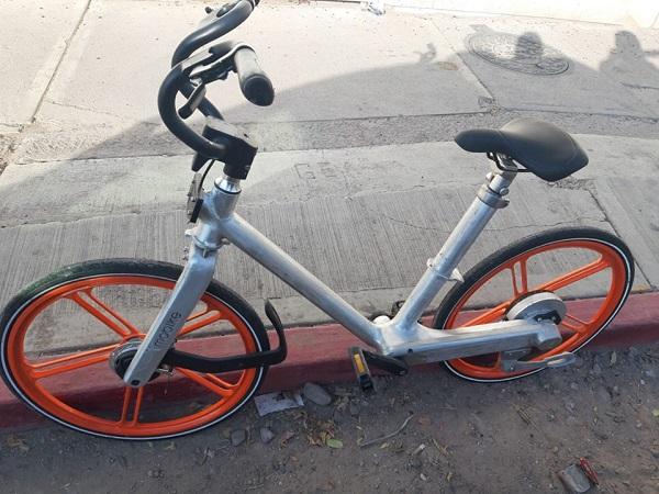 Detienen a sujeto por intentar robar bicicleta Mobike