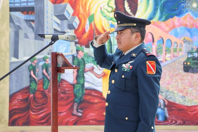Nombran nuevo comandante de base militar en Calvillo