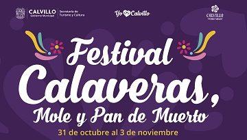 Realizará Calvillo Festival de Calaveras, Mole y Pan de Muerto