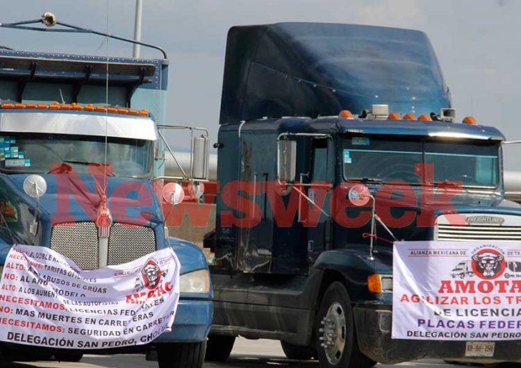 Se suma Puebla a protesta nacional de transportistas