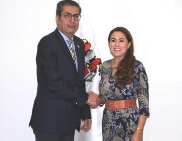 Sostiene alcaldesa de Aguascalientes reunión con el fiscal del Estado
