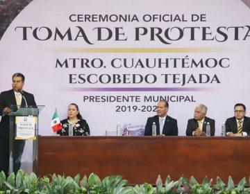 Asumió Temo Escobedo segundo periodo como alcalde de Pabellón de Arteaga
