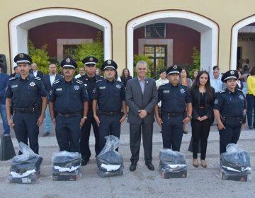Entregan equipamiento para policías municipales de Jesús María