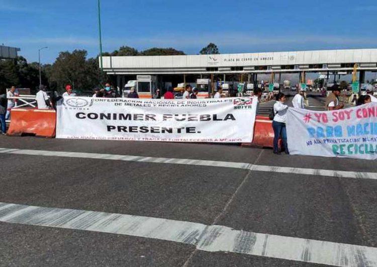 Manifestantes en Puebla protestan vs la Ley de Residuos