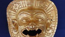 Recuperan en Madrid máscara de oro prehispánica expoliada en Colombia