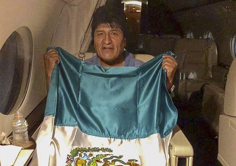 Evo llega a México a las 11 de la mañana