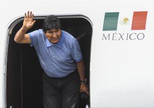 Aterriza Evo Morales en México luego de un complicado trayecto aéreo