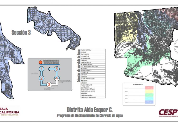 Anuncian tercer corte de agua; 160 colonias afectadas y 6 parcialmente