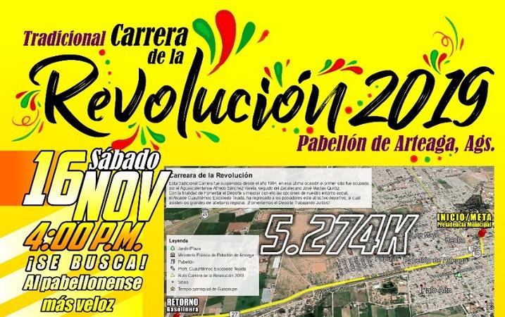 Tras 25 años organizarán carrera de la Revolución en Pabellón de Arteaga