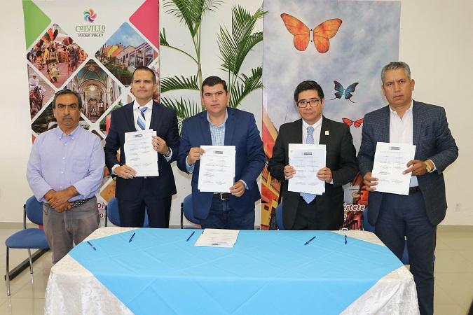 Firman convenio de colaboración U. Cuauhtémoc y municipio de Calvillo